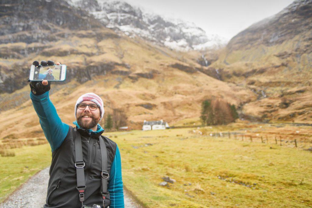 Selfie en Glencoe. Foto © gigiosphotography