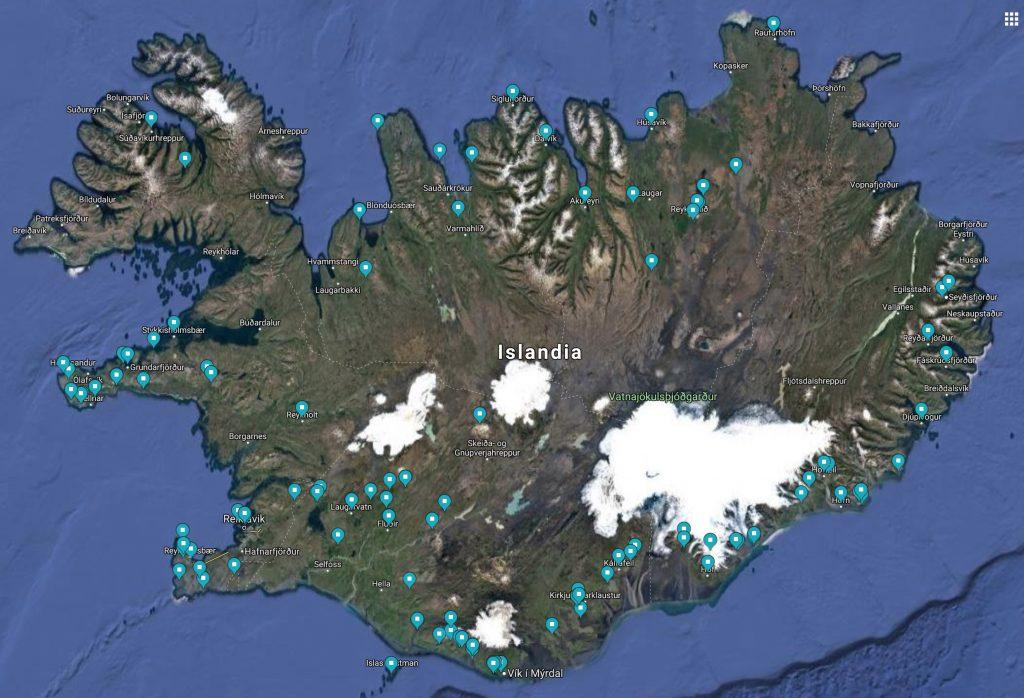 Localizaciones Islandia