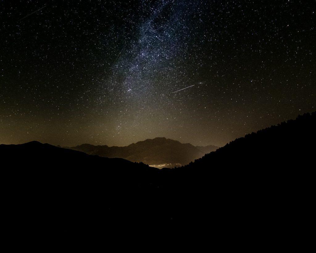 Perséida y Vía Láctea